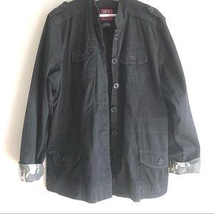 Torrid black jacket anorak utility cotton plus 3X